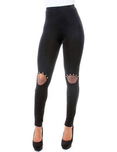 Black rebel spiked leggings