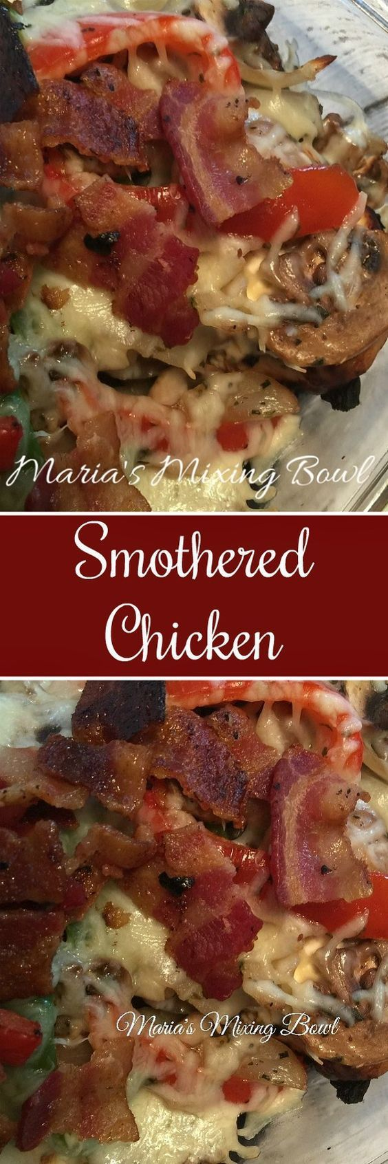 Baked Smothered Chicken is an incredibly easy and delicious one-pan, baked chicken dinner recipe!   Just the words smothered make me drool!! I love anything smothered . I mean lets face it. If its smothered in something good then it will be even better than if it wasn't smothered right?!   So IView Post