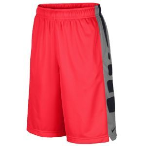 Nike Elite Stripe Shorts - Boys' Grade School - Black/Gym Red
