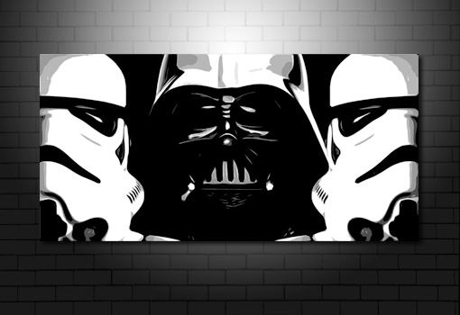 StarWars Canvas Print, starwars canvas, darth vader canvas, star wars wall art, stormtrooper canvas print