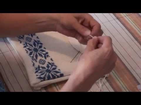 Как сшить и отпарить (ВТО) двойную спортивную шапку «Петушок». Уроки и секреты машинного вязания. - YouTube