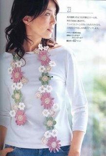 Receitas de Crochet: Cachecol em flor