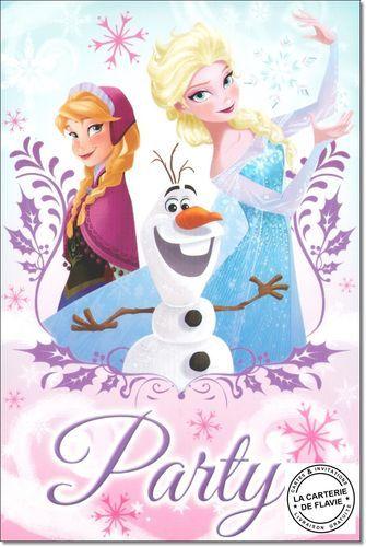 Carte Disney la Reine des Neiges à retrouver sur notre site: http://lacarteriedeflavie.com/Cartes-Disney-La-Reine-des-Neiges-anniversaire-invitation