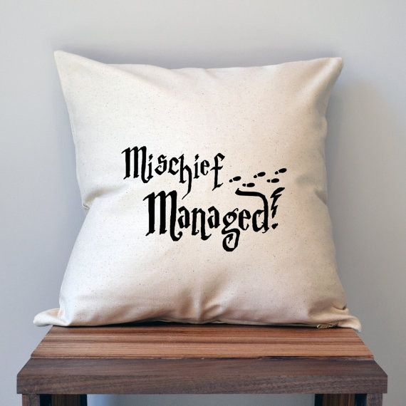 Mischief Managed II Pillow Cover