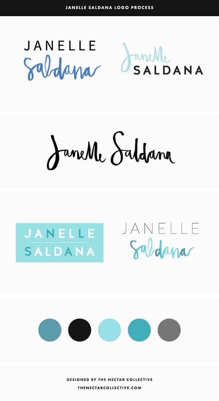Janelle Saldana Logo Process - The Nectar Collective
