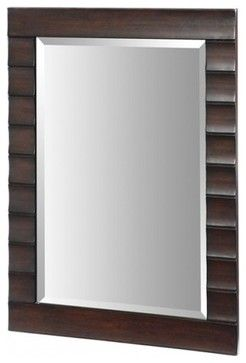 Xylem Wave Dark Expresso Bathroom Mirror - eclectic - Bathroom Mirrors - Miami - Click Shop and Run, Inc