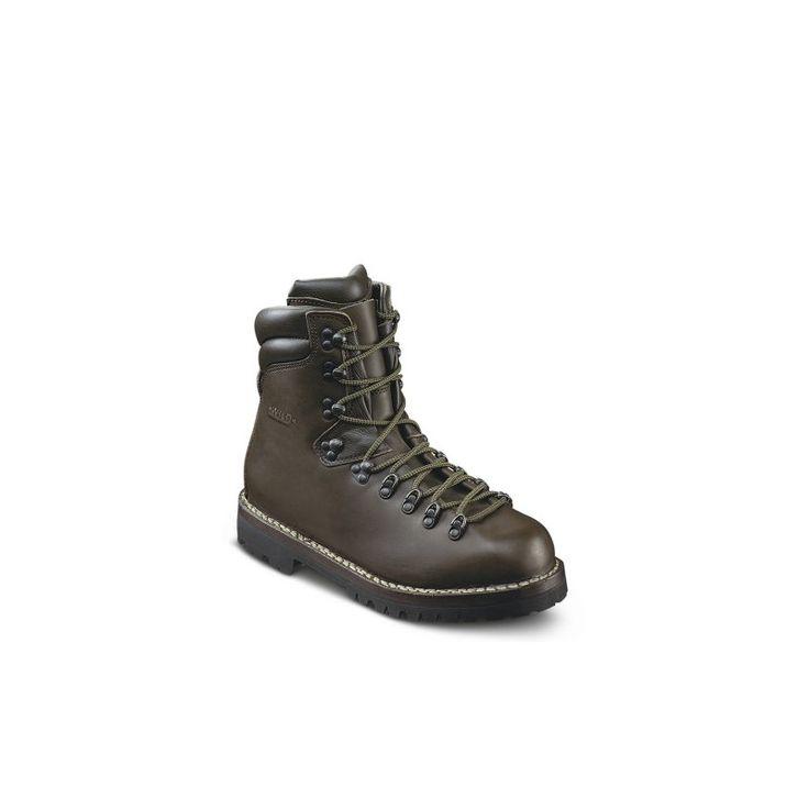 Chaussure de montagne en cuir + doublure cuir. Coutures Norvégiennes. Semelle Vibram. Ressemelable. Cuir hydrofuge. Fabrication Italienne