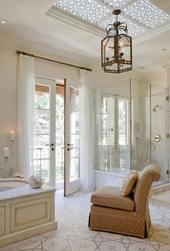 Lighting choice #1 Dennis and Leen Crowther Lantern Enchanted Oaks - traditional - bathroom - san francisco - Tucker & Marks
