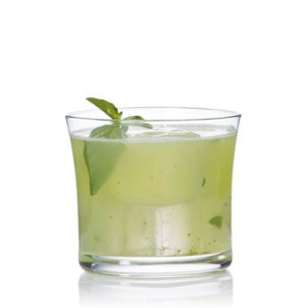 "Basil Patrón | Patrón Silver, lime & basil. View the recipe by clicking through and going to ""Drink Maker"""