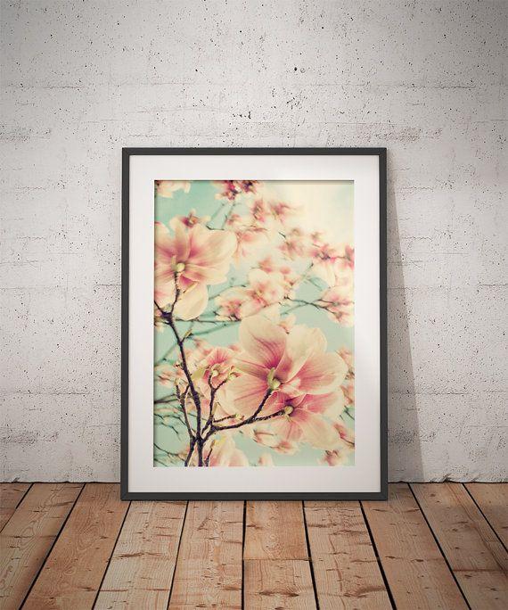 Spring Flower / Magnolia / Nature Photography / Fine Art photogpraph / Wall art decor print / Floral artwork