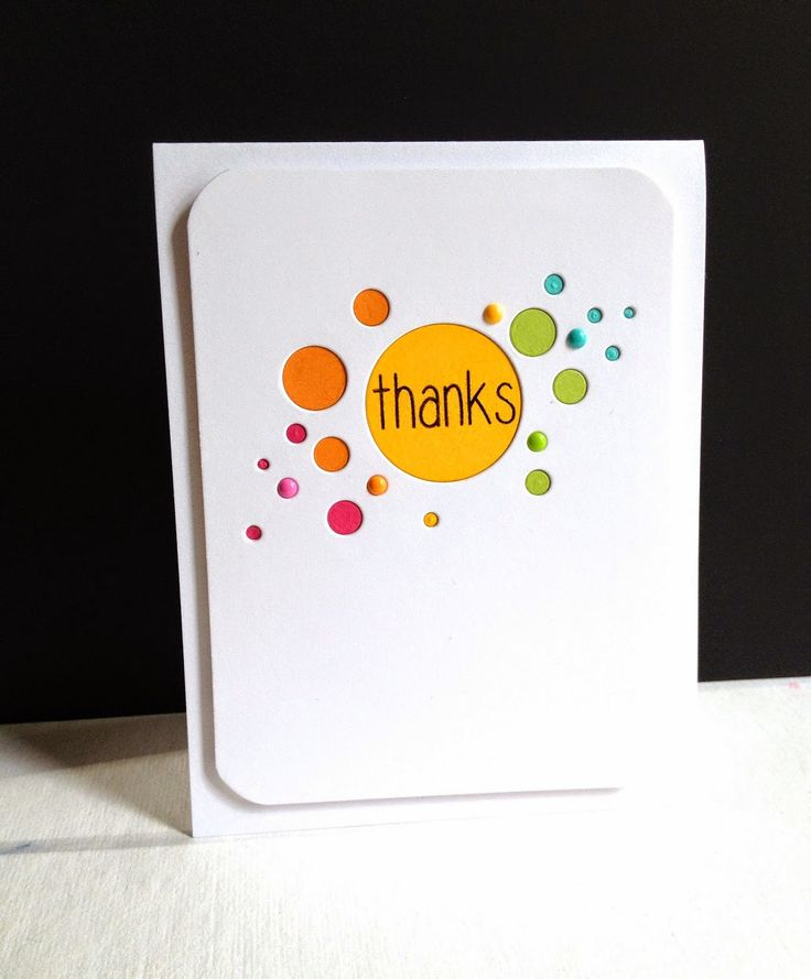 Unique Thank You Card Ideas: 286 Best Cards With Circles Images On Pinterest