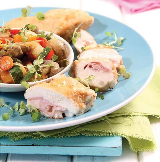 Vrouekeur   Celeb food: Angelique Gerber - Cordon Bleu Chicken