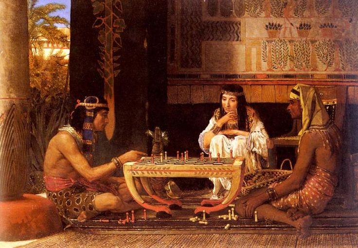 Альма-Тадема Лоуренс. Египетские шахматисты