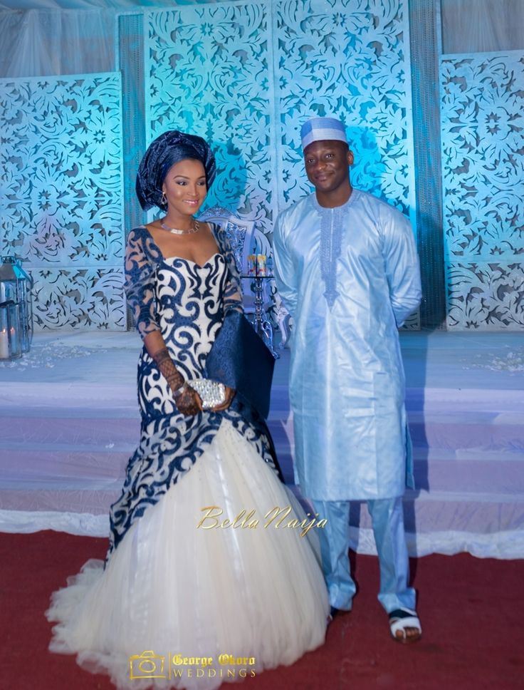 Bellanaija bride groom muneerah umar hausa for Nigerian traditional wedding dresses pictures