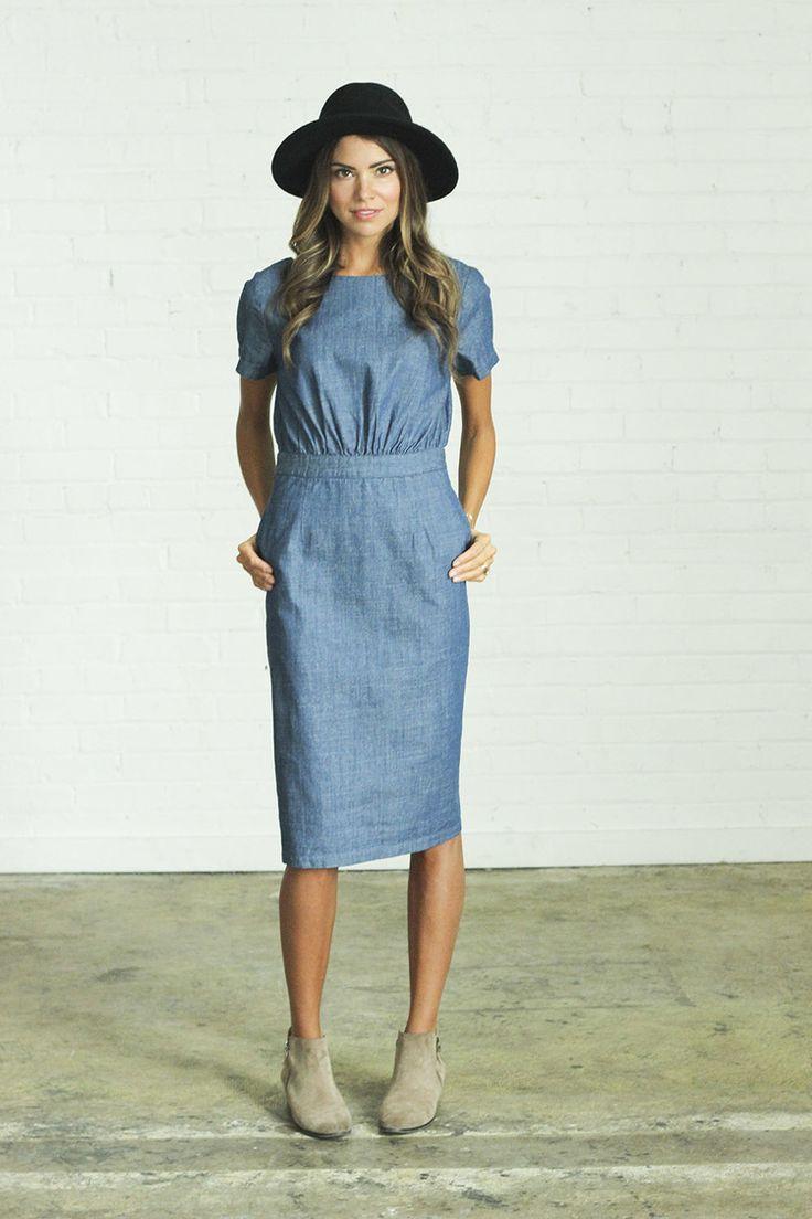 Chambray Dress | clad & cloth