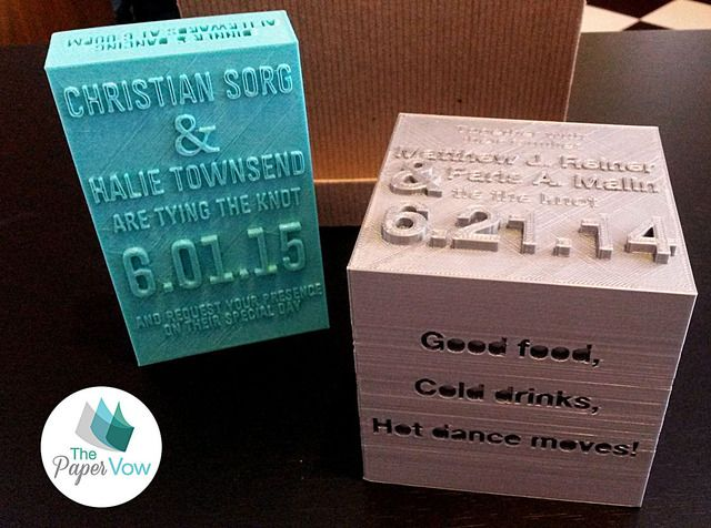 Printed Wedding Invitations: 3D Printed Wedding Invitations: Http://3dprintboard.com