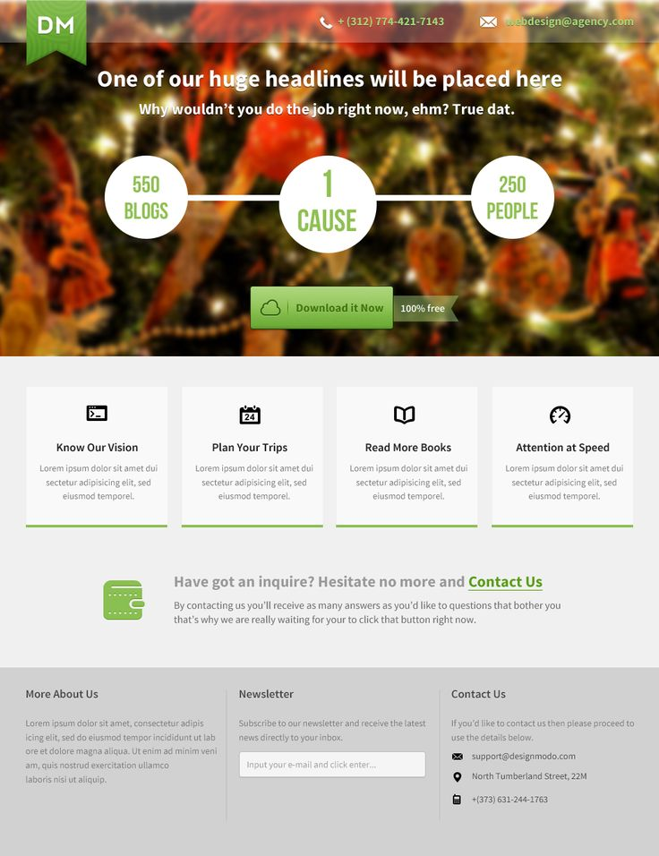 How to Make a Beautiful #Landing #Page with #Photoshop, #LandingPage,