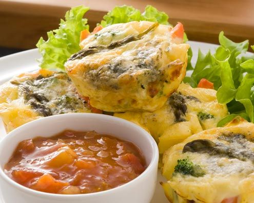 Asparagus & Vegetable Mini Frittatas recipe from Food in a Minute