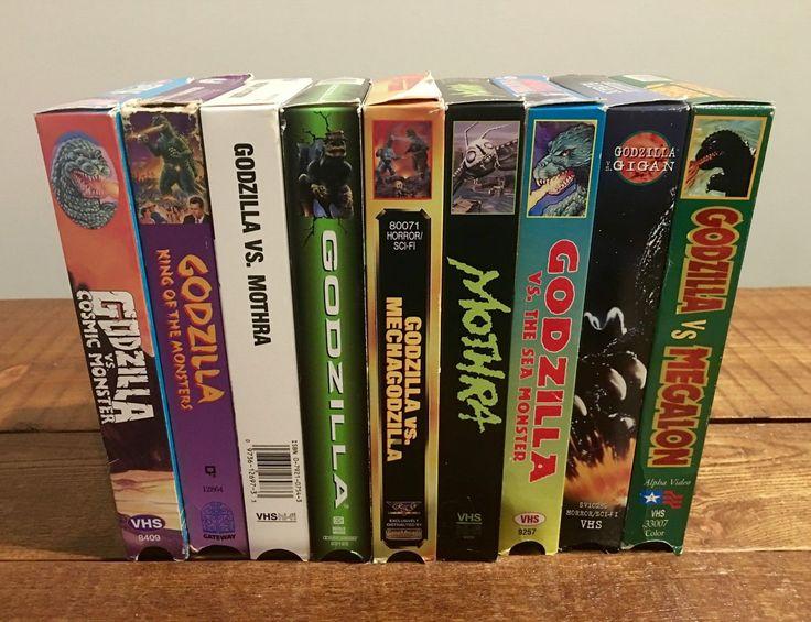 Godzilla Video Tape VHS Movie Lot Vintage Mothra Gigan Megalon Mechagodzilla   eBay