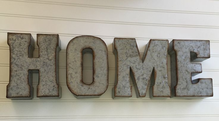 Decorative Metal Letter/ YOU PICK / HOME /Wall Letter Sign / Signage / Rustic Industrial Wall Letters / Nursery / Wedding / Love by CountryGirlMarket on Etsy https://www.etsy.com/listing/400533565/decorative-metal-letter-you-pick-home
