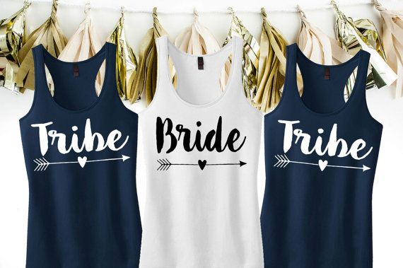Bride Tank Top - Tribe Tank Top - Bride and Tribe Tank Tops - Tribe Bachelorette Party Tanks - Tribal Bride Tank Tops - Plus Size Tanks