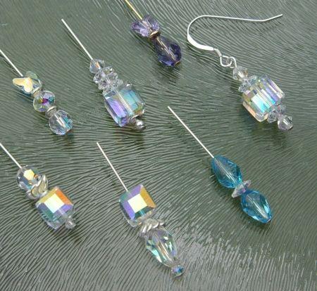 Zelf oorbellen maken, met Swarovski kristal kralen
