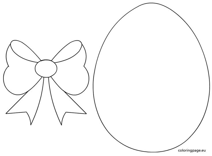 Easter egg with bow template
