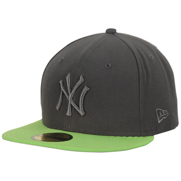 New York Yankees New Era 59FIFTY Custom Fitted Hat - Gray/Green