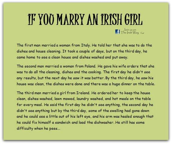 If you marry an irish girl                                                                                                                                                      More