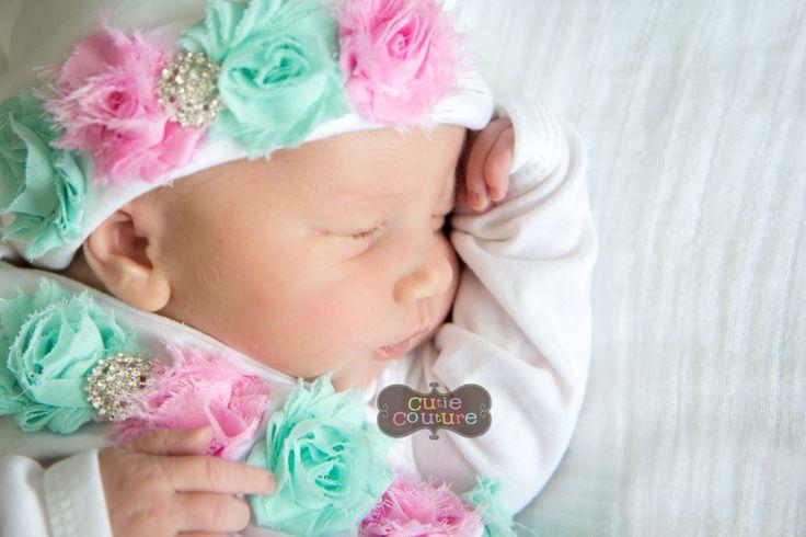 Bebé niña Hospital traje fotos nueva chica nacido sombrero