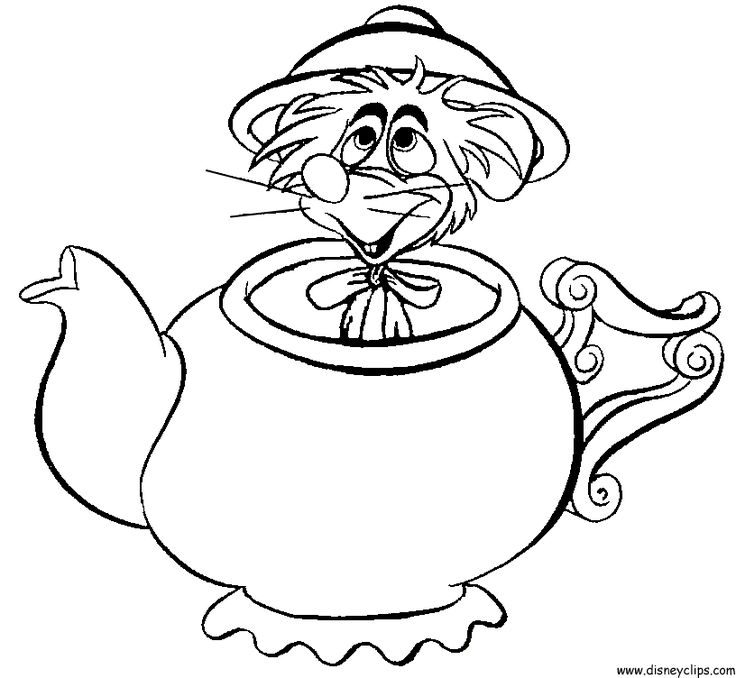 Alice in Wonderland Printable Coloring Pages 2 - Disney Coloring Book