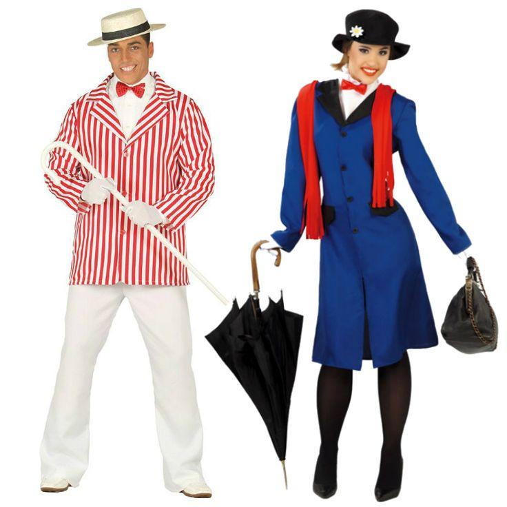 costumes pour couples wert et mary poppins d guisementscouples deguisement mary pinterest. Black Bedroom Furniture Sets. Home Design Ideas