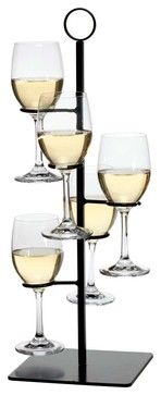 Stemware holder contemporary cups and glassware