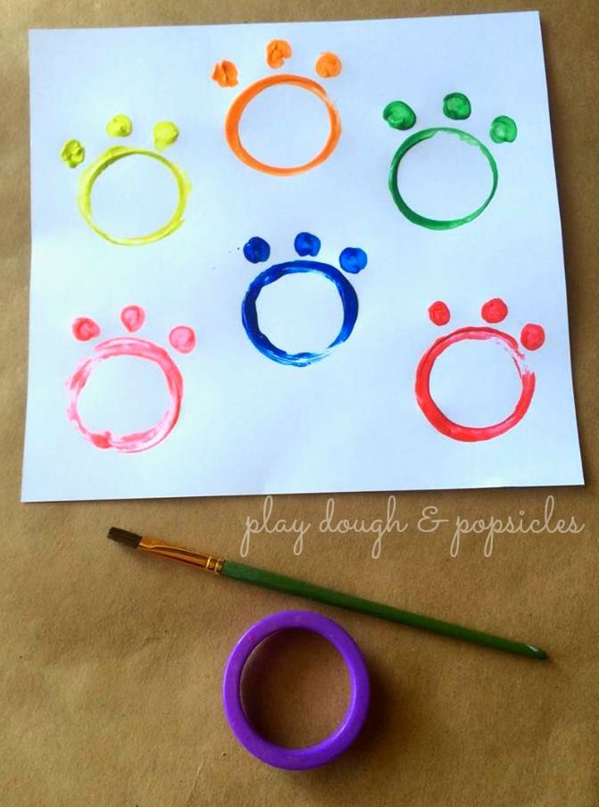 Cookie Cutter Painting Activity Inspired By Paw Patrol. Preschool painting activity. Paw Patrol Craft for Kids.