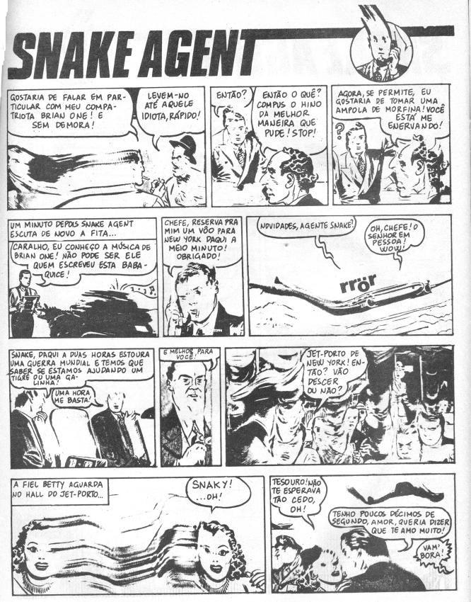 """Snake Agent, Stefano Tamburini, Frigidaire. Tamburini fez xerocópias distorcidas de um quadrinho policial """"estúpido"""" (Segundo suas palavras) e reescreveu todos os diálogos. #comics"""