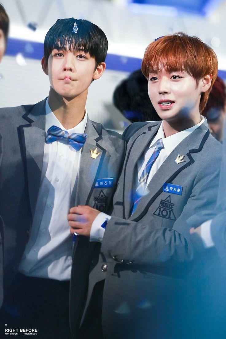 BAE JINYOUNG AND PARK JIHOON 'wanna one' member © cr. on photo