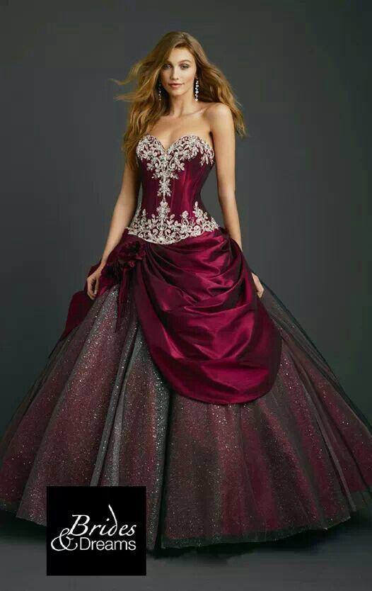Burgundy Long Dress
