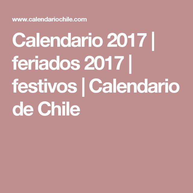 Calendario 2017 | feriados 2017 | festivos | Calendario de Chile