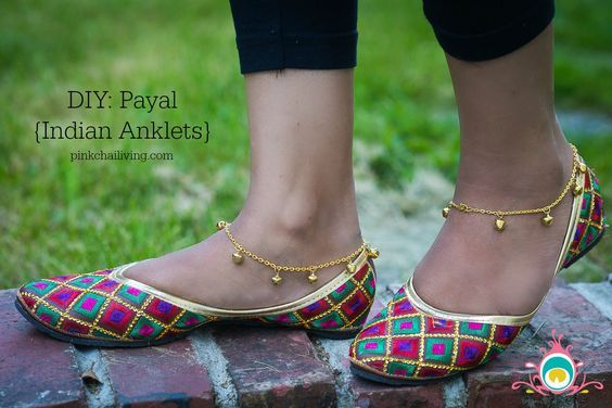 DIY Payal - these Indian anklets are easy to make and perfect for summer. (And, you can find most of the supplies at your local dollar store!)