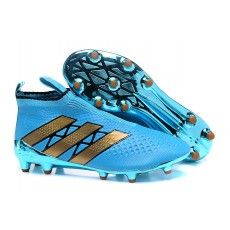 2016 Adidas Ace16+ Purecontrol FG-AG Botas De Futbol Azul Oroen