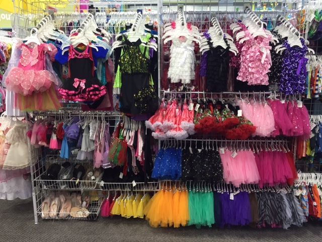 Dance wear, tutus, tap shoes, tights and more.... starting at $3.50