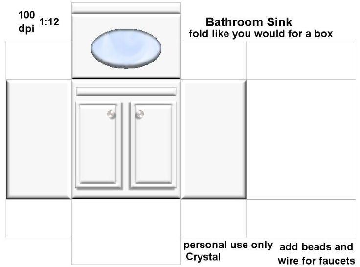 Printable Dollhouse Bathroom Furniture