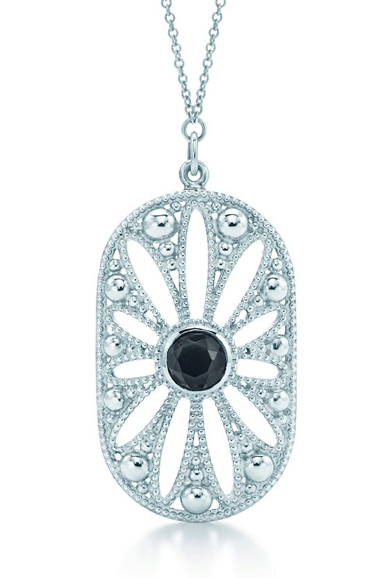 """Ziegfeld Collection daisy pendant. Inspired by the Tiffany jewels created exclusively for Baz Luhrmann's film """"The Great Gatsby."""""""