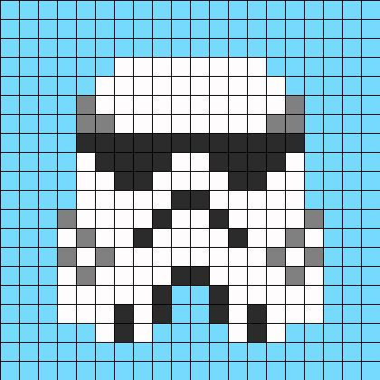 Stormtrooper Perler Bead Pattern | Perler Bead Patterns | Characters Fuse Bead Patterns