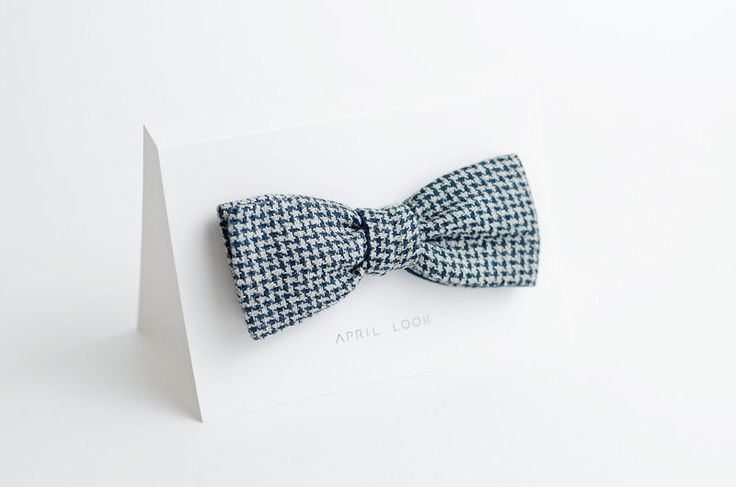 Men's bow tie - double sided w APRIL LOOK na DaWanda.com
