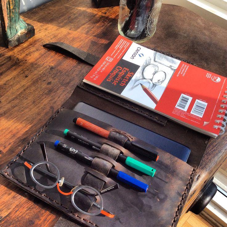 Beck Sketchbook / Leather Sketchbook Cover / by LUSCIOUSLEATHERNYC