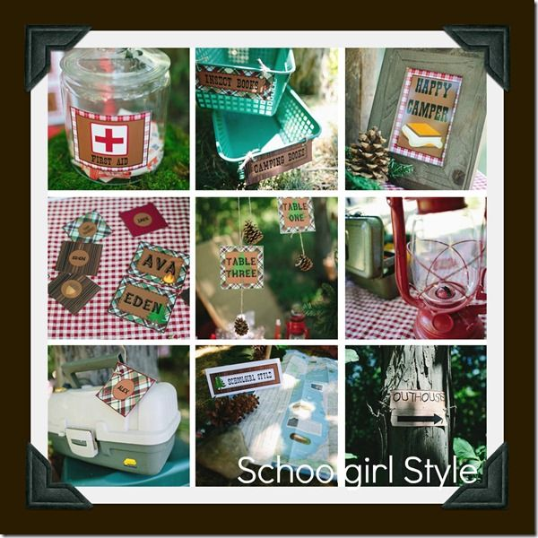 Camping Classroom Theme and Decor by Schoolgirl Style www.schoolgirlstyle.com