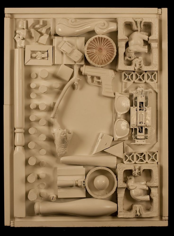 Louise Nevelson inspired sculptures by high school students