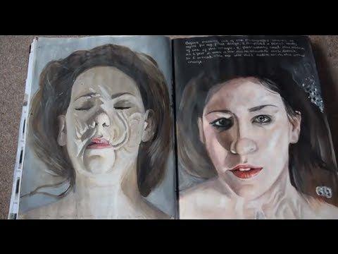 AS Art exam sketchbook - Full marks