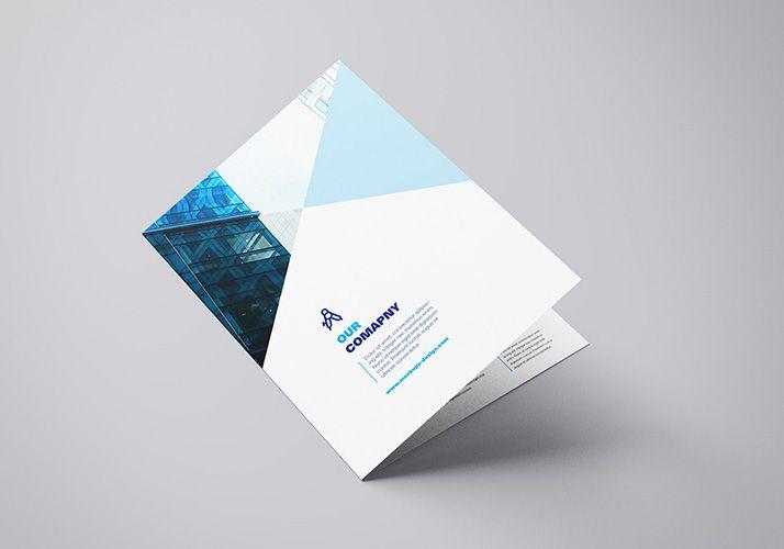 Free A4 Bifold Mockup Mockups Design Mockup Template Free Brochure Mockup Free Free Brochure Template